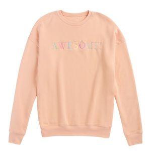 Peach Pullover Sweatshirt